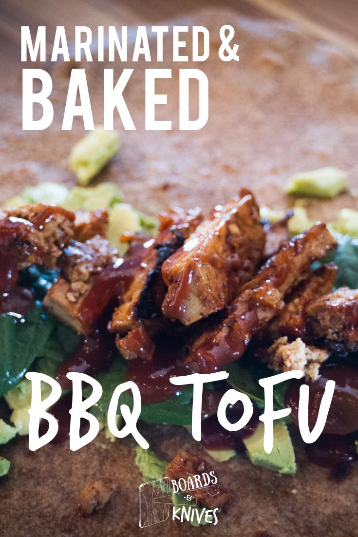 Marinated & Baked BBQ Tofu   boards and knives